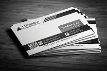 Black & White Creative Business Card
