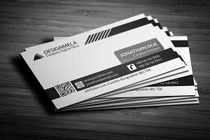 Black & White Creative Business Card