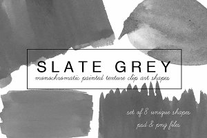 Slate Grey painted clip art