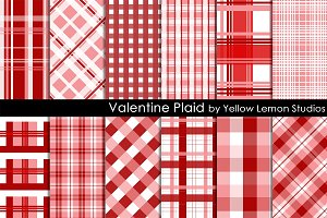 Pink and Red Valentine Plaid