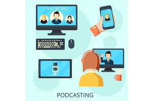 Podcasting and webinar banner