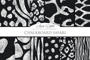 Chalkboard Safari Digital Paper