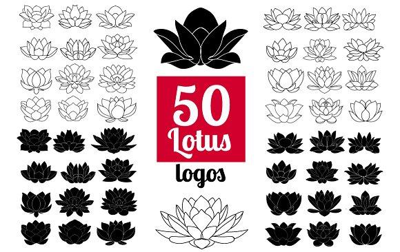 50 lotus flowers logo bundle icons creative market 50 lotus flowers logo bundle icons mightylinksfo