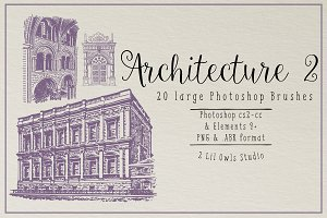 Architecture 2 Photoshop Brushes