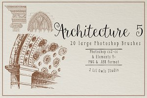 Architecture 5 Photoshop Brushes