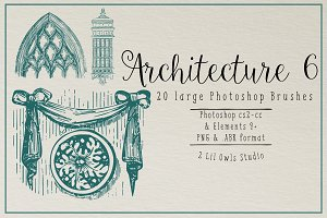 Architecture 6 Photoshop Brushes