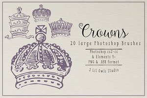 Vintage Crowns Photoshop Brushes