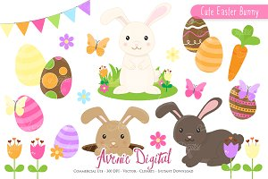 Easter Bunny Clipart - Vectors
