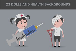 23 dolls and health backgrounds