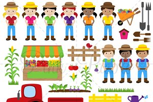 Farm and Farmer Clipart & Vectors