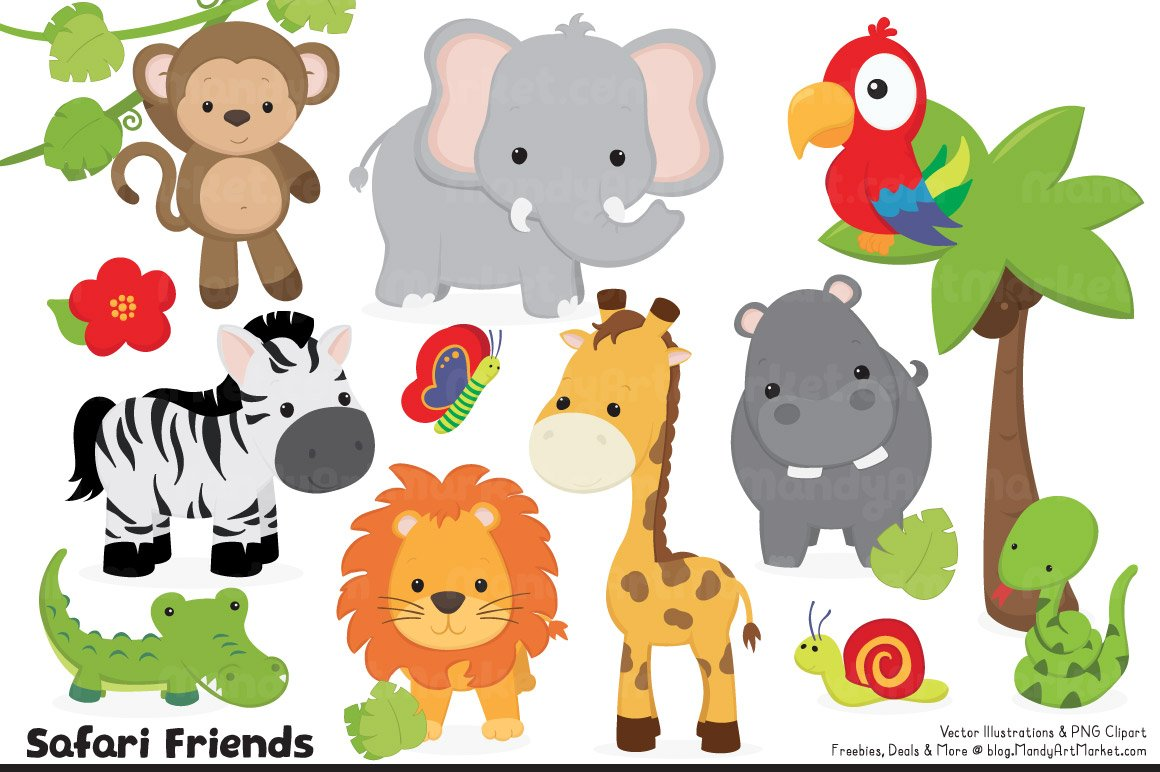 It's just an image of Dashing Free Printable Jungle Animals