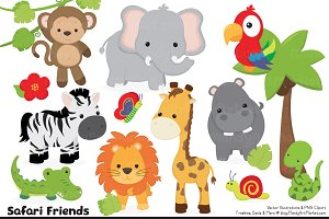 Cute Jungle Animal Clipart