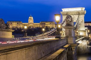 Buda Castle with the Chain Bridge