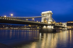 The Chain Bridge in Budapest