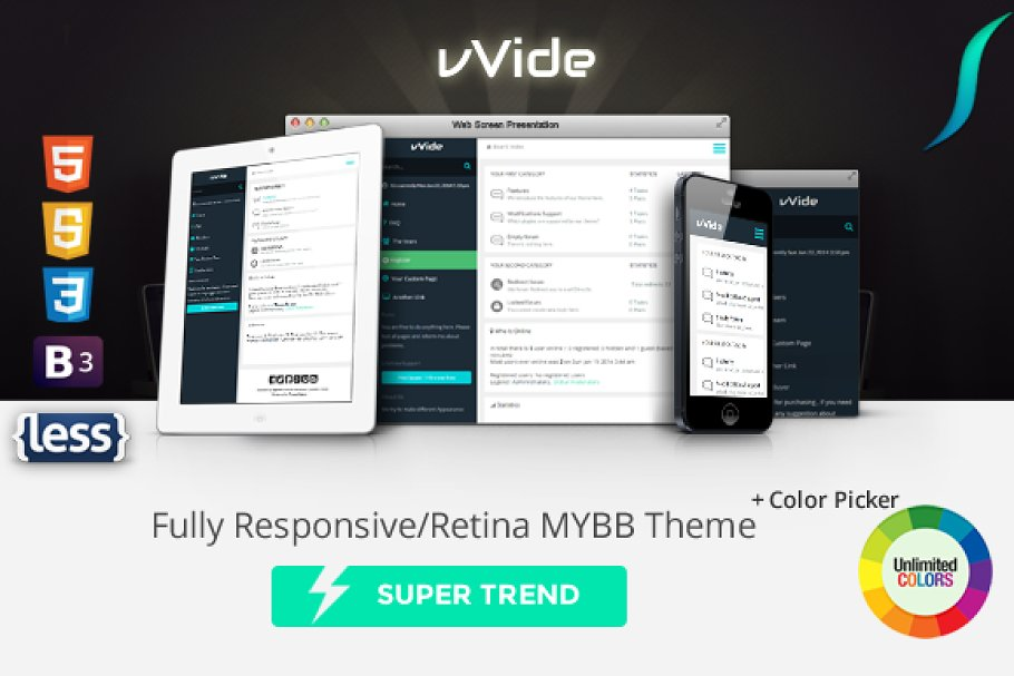 Wide - Fully Responsive MYBB Theme