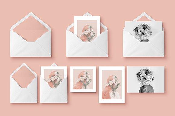 Mockup Greeting Cards Envelope Product Mockups Creative Market