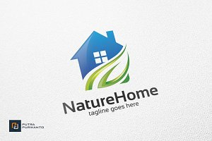 Nature Home - Logo Template
