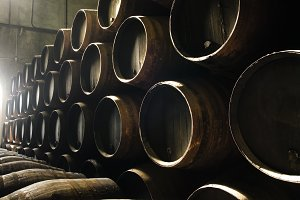 Barrels for whiskey or wine