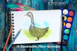 10 Decorative Farm Animals