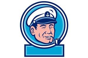 Sea Captain Smoking Pipe Circle