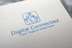 Digital Connected Logo Template