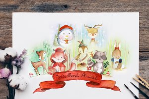 Woodland Animals Nursery Bundle