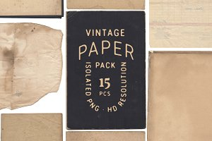 Rustic Vintage Paper Stocks