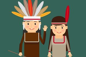 American indians children