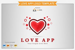 Love App Logo Template