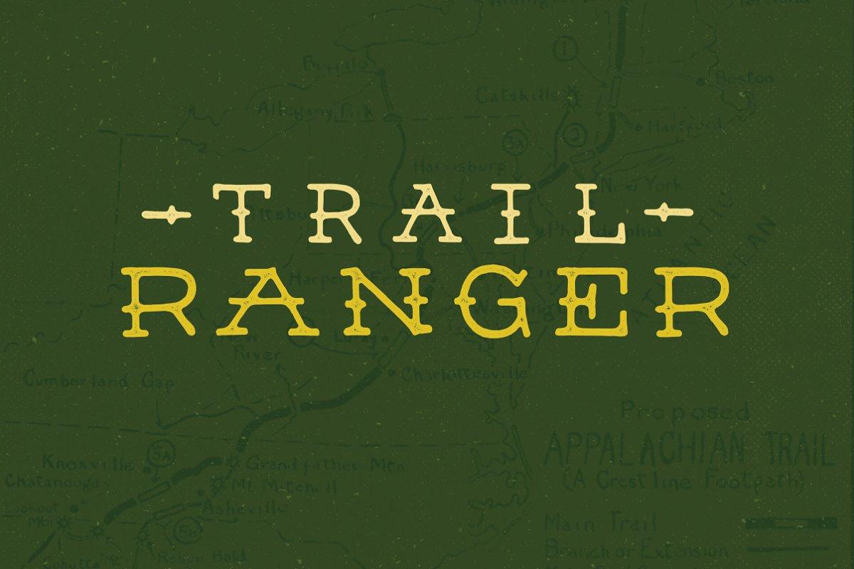 Trail Ranger ~ Slab Serif Fonts ~ Creative Market