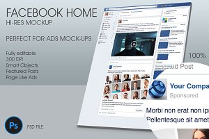Facebook Home Hi-Res Mockup