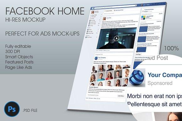 Facebook Home Hi Res Mockup