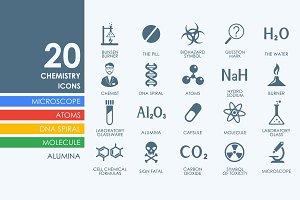20 Chemistry icons