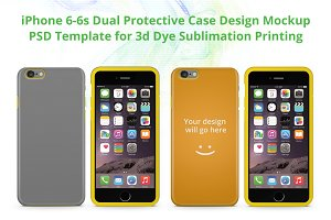 iPhone 6S Dual Protective case Mock
