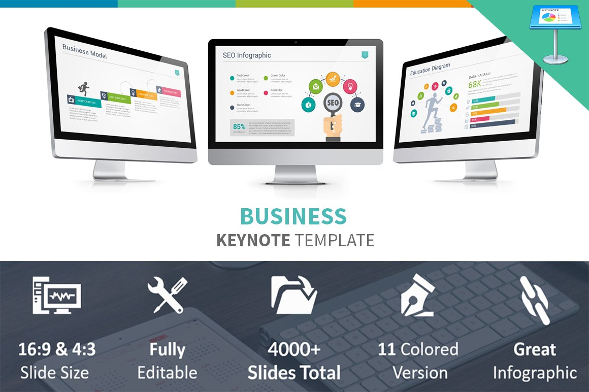 Business keynote template presentation templates creative market flashek Image collections
