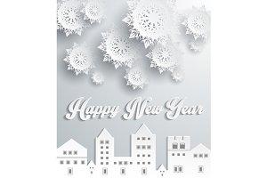Happy New Year Snow City Design