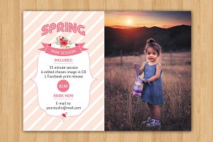 Spring Mini Session Template-V193