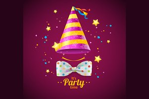 Party Card or Placard. Vector