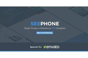 SeePhone — Phones Shop PSD Theme
