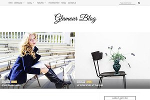 Glamour Responsive Blogger Template