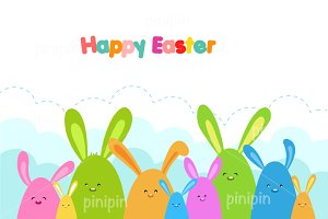 Easter Bunnies Card