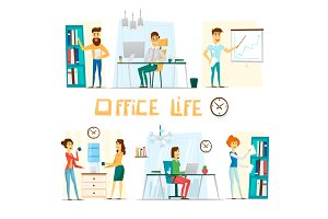 Business people working on office.