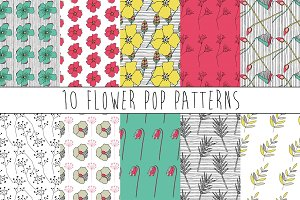 Pop Art Digital Paper Pattern Set