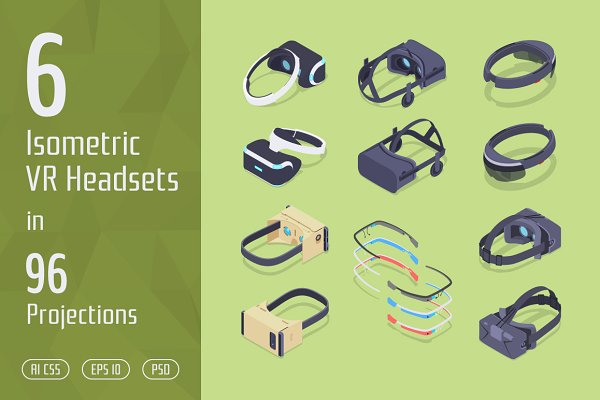 6 Isometric VR Headsets