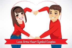 Love Arms Heart Symbol Couples