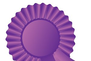 Purple rosette ribbon