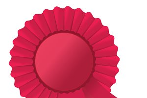 Red rosette ribbon