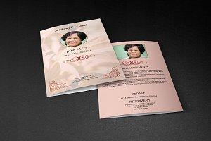 Funeral Program Template-V383