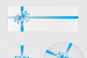Blue bows, ribbons and gifts