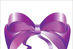 Nice purple bow